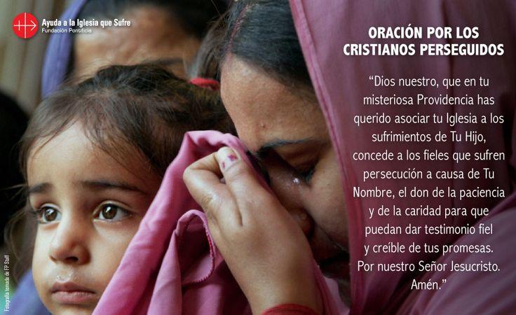 #oraciones #religion #católica #Dios #amor #fe #frases #Jesús #cristianos #perseguidos #iglesiaquesufre #ayudaalaiglesiaquesufre #AIS