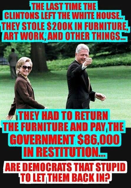 Remember? End the Clinton influence on America once and for all! #StopHillary #RememberOurValues You will have to fumigate it this time