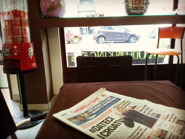 ....sia fatta domenica.... #reggiocalabria #calabria #newspaper #coffeetime #pringles #sunday #sun