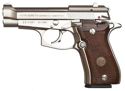 "ELK CASTLE SHOOTING SPORTS | Beretta 84 Cheetah 380 ACP 3.8"" 13+1 Checkered Walnut Grip Nickel J84F212M"