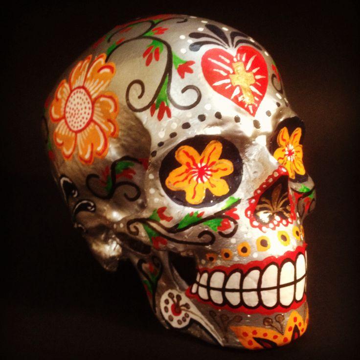 """Title -""""My Frida"""" by SKOLLTOR. Skull art sculpture."""