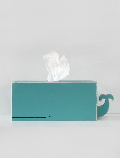 Whale Tissue Holder: Makes even the sniffles ok!