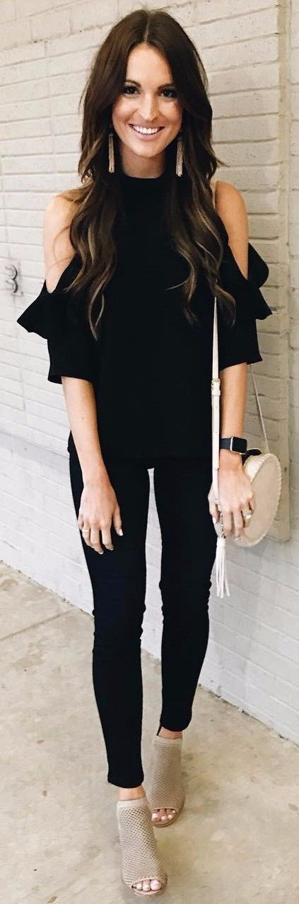 business outfit all black everything