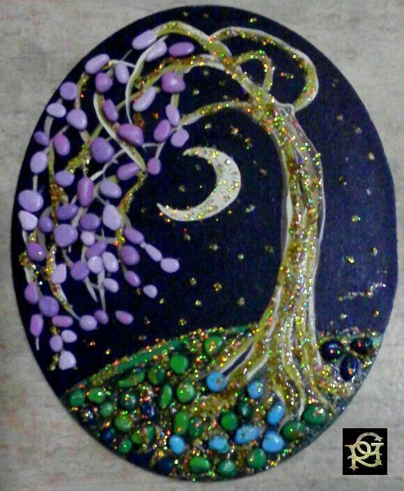 Notte magica -Painted Stones di Rosaria Gagliardi