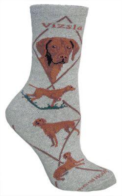 Vizsla Grey Socks