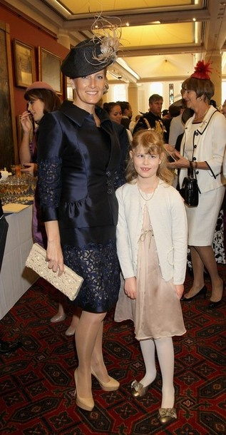 Sophie, Countess of Wessex and Lady Louise Windsor attend a reception at Guildhall on June 5, 2012 in London, England for the Queen's Jubilee Service of Thanksgiving.
