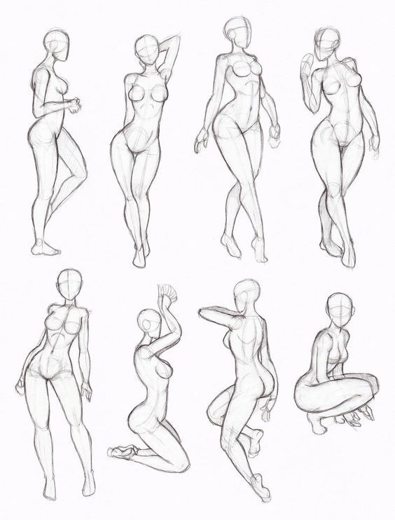 """figuras femininas [ """"Some sketchy copies from one of Kate-FoX"""