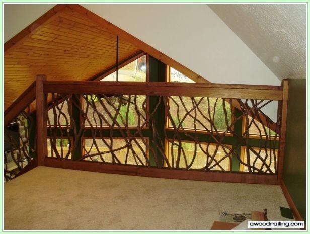 Interior Railing Rustic Home Ideas Pinterest