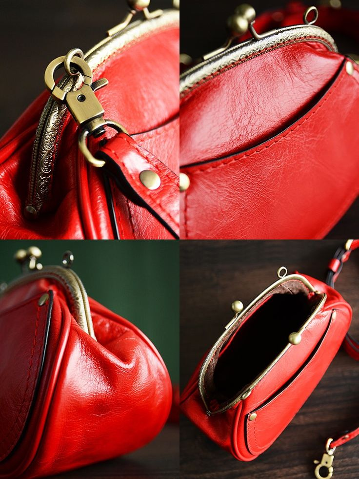 Image of Custom Handmade Itanlian Tanned Leather Satchel Messenger Shoulder Bag Women Mini Bag D033