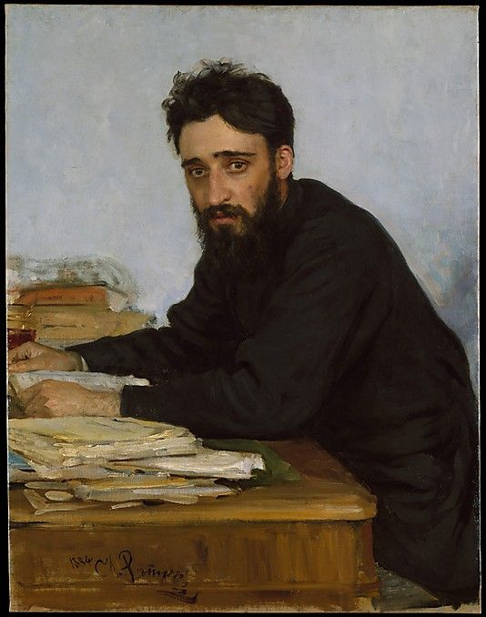 Ilia Efimovich Repin (Russian, 1844–1930). Vsevolod Mikhailovich Garshin (1855–1888), 1884. The Metropolitan Museum of Art, New York. Gift of Humanities Fund Inc., 1972 (1972.145.2) #mustache #movember