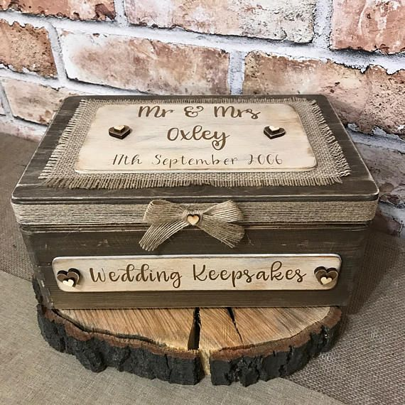 Wedding Keepsake Box Wedding Memory Box Personalised Mr And Mrs