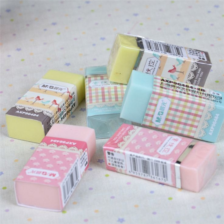 New Cute Kawaii Candy Colored 2B Rubber Eraser For Kids Student Examination Correction School Supplies Free Shipping 2203