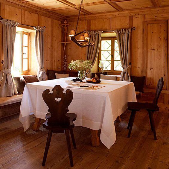 Swiss. italian. alpish - yes! Simple mountain home with beautiful interior design
