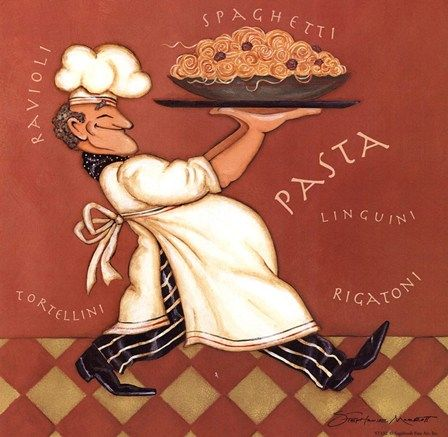 Pasta Chef by Stephanie Marrott art print