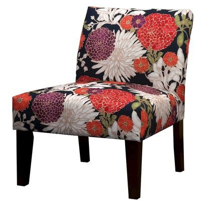 Avington Armless Slipper Chair - Bold Floral