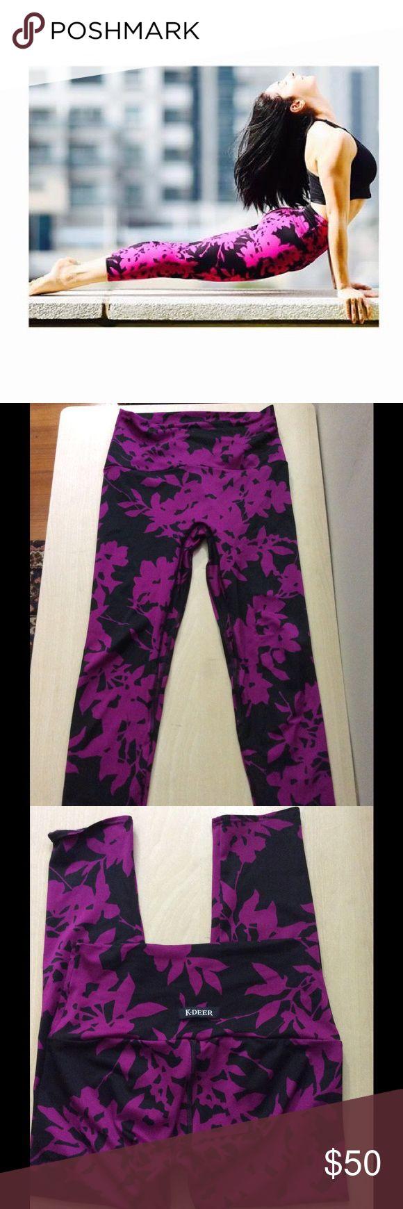 K-DEER Bordeaux Capri Leggings Size S. Capri length. Worn twice. K-DEER Pants Leggings