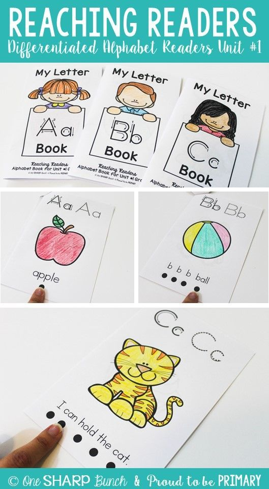 Are you needing simple, easy to prep alphabet readers for your guided reading and small group instruction? These sets of readers are differentiated and perfect for your PreK, preschool, Kindergarten kids learning their letters and sounds.