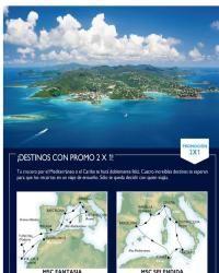 MSC Cruceros - ¡Imperdible Caribe y Mediterráneo con promoción 2X1!