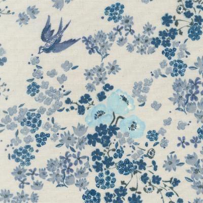Nani+IRO+En+Garden+Blue+Double+Gauze+