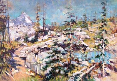 "'Near Ridge Purcells' 54"" x 78"" Acrylic on Canvas by Artist Jim Vest"