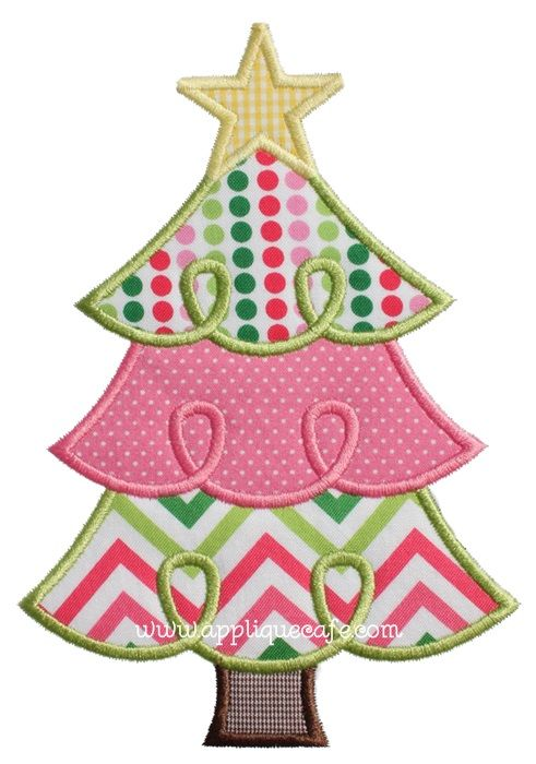 Loopy Christmas Tree 2 Applique Design