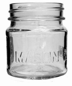 8 oz Square Mason Jar, (http://www.greenmunch.ca/eco-party-craft/mason-jar-stuff/8-oz-square-mason-jar/)
