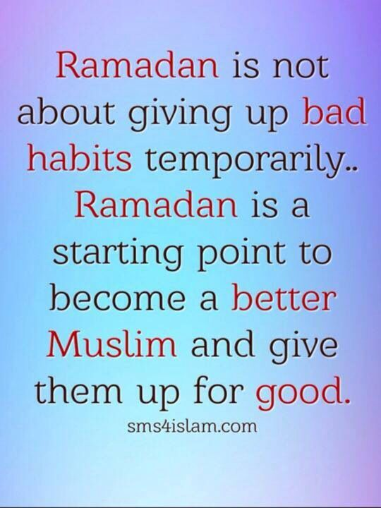 Ramadhan is a starting point ...