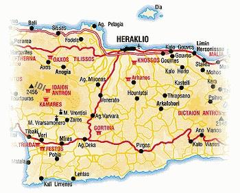 Map Crete Heraklion - Greece