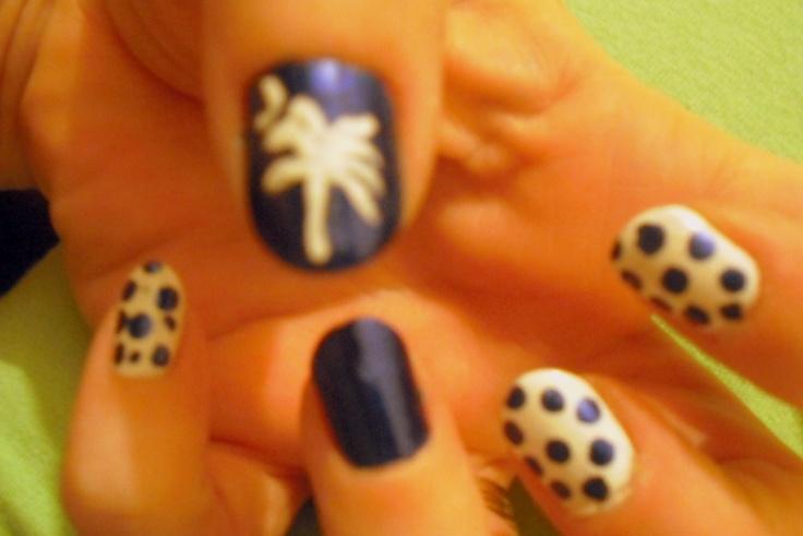 South Carolina Nails : )Beautyful Nails, Carolina Land, Carolina 3, Palmetto Nails, Nails Art 3, Carolina Girls, Beach Nails, Carolina Nails, South Carolina