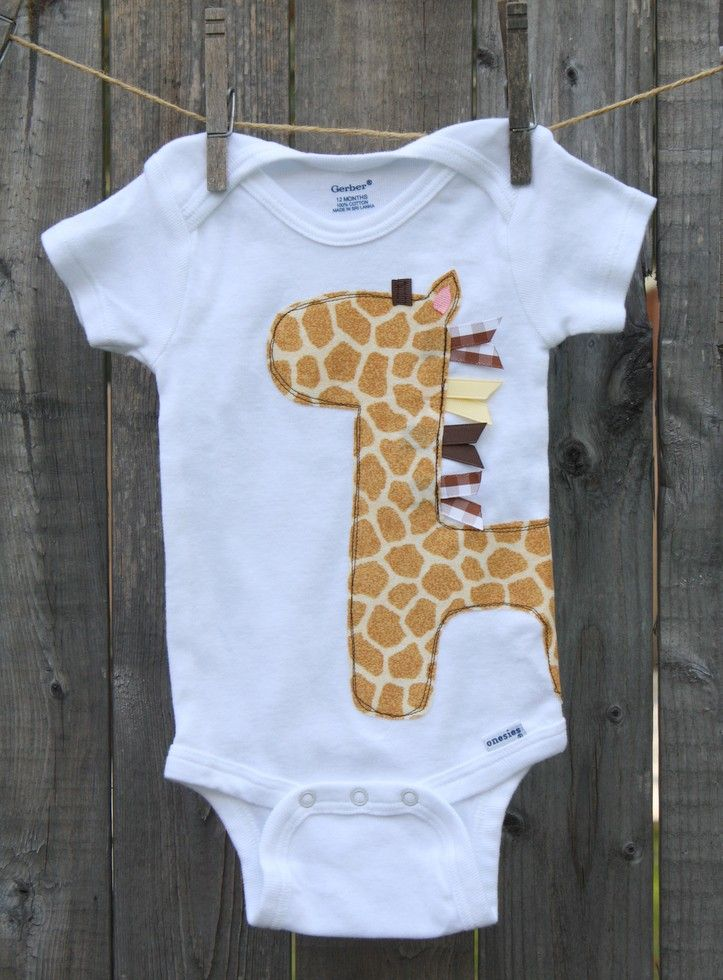 This onesie can be for a boy or girl. It's a perfect gift for those mamas who don't know that they are having. Giraffes are made with designer cotton fabric. Onesies make great baby shower and birthday gifts. Each item is handmade please allow up to a WEEK for creating.