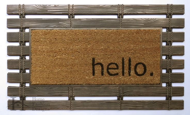 Montpelier Collection Rubber and Coir Brushed Doormat with Greeting