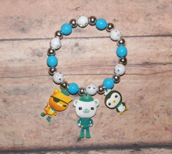 Octonauts Disney Jr Custom Bracelet by StinkyPinkCreations on Etsy, $5.50