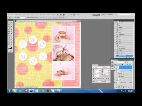 How to Create a Digital Scrapbook Page with Photoshop - YouTube