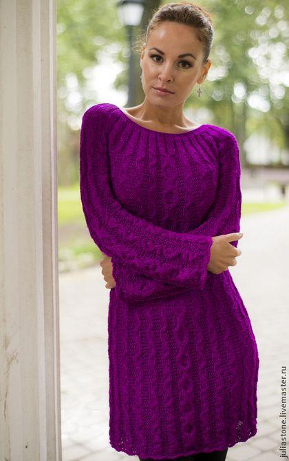 """Удлиненный пуловер """"Городские легенды"""". Handmade. #knitting"""