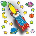 Rocket Bulletin Board Set CD-110142 Carson Dellosa Classroom Theme | K12 School Supplies | Teacher Supplies
