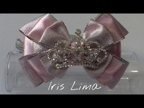 Como fazer laço com três camadas D.I.Y. ,Tutorial , Pap By Iris Lima How To Make a Hair Bow - YouTube