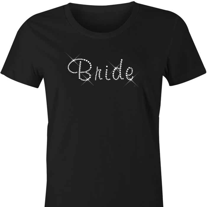 Bride Diamante TShirt / Singlet The perfect singlet for the Bride! Bride is written in sparkling diamante crystals across the front of our ladies tshirts, singlets and hoodies. Available in a...