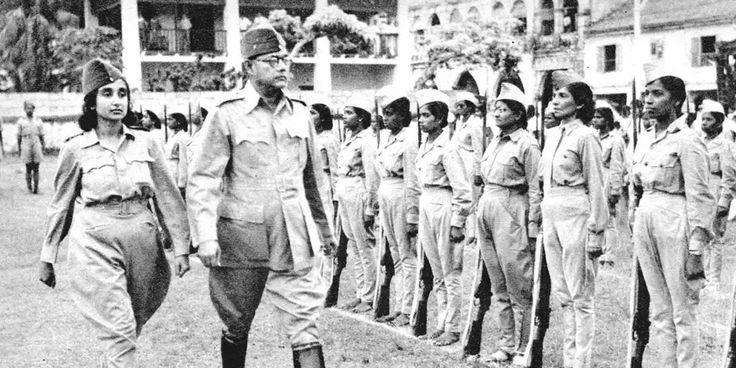 Laxmi sehgal with Subhas Chandra Bose