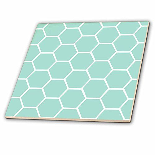 3dRose ct_120225_1 Mint Honeycomb Pattern Pastel Aqua Blue Hexagons Light Teal Turquoise Bee Hive Hexagonal Design Ceramic Tile, 4-Inch 3dRose http://www.amazon.co.uk/dp/B00KG5VGFM/ref=cm_sw_r_pi_dp_Aw0Rwb11ZZ311