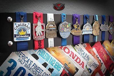 Marathon Half Marathon Medal and Bib Display Black 30 Inches | eBay