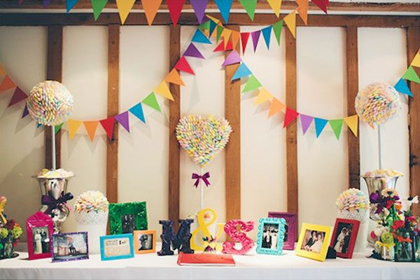 Reception Décor - i like the bunting