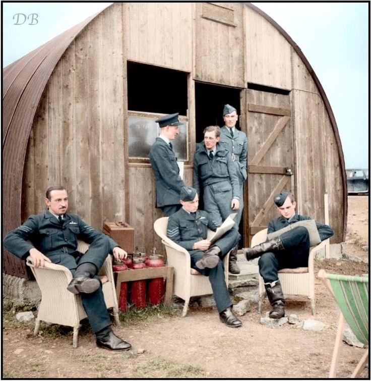452 Squadron RAAF pilots ouside their dispersal hut at Kirton in lindsey, Lincs, 18/6/1941. Colour by Doug (@colour_history) | Twitter