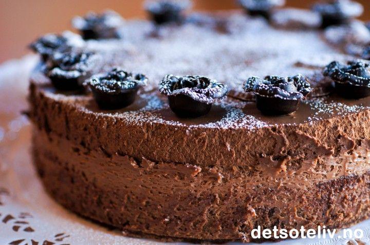 Dobbel sjokolademoussekake | Det søte liv