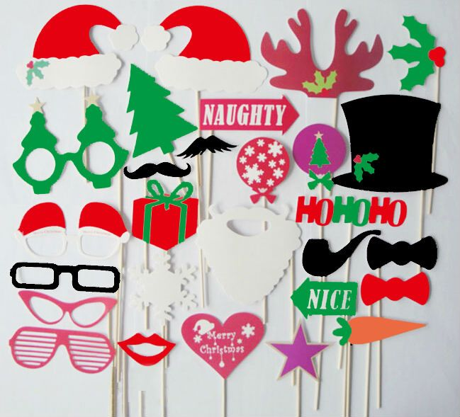 Aliexpress.com : Buy Lips 28pcs foto do Natal Booth Props Bigode em uma vara de Suprimentos Decoração from Reliable mostrar cabine suppliers on Laimi Gifts limited