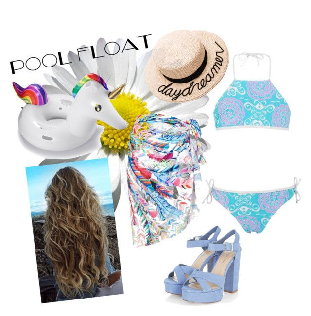 """""""Day at the Beach"""" by just-teriv on Polyvore featuring Gottex, Eugenia Kim and poolfloats"""