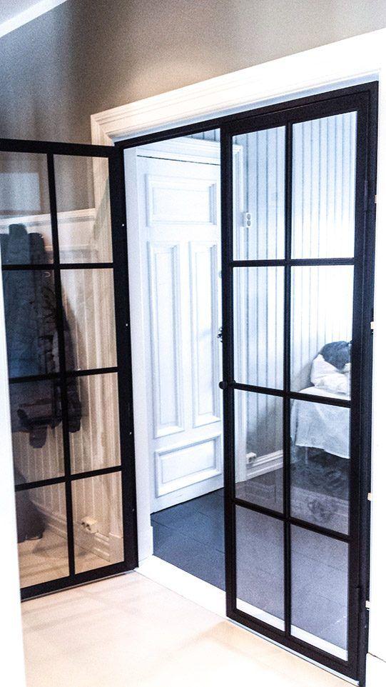 Double metal door to the bedrom by Dominius AS