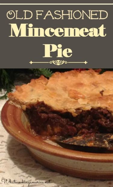 Old Fashioned Mincemeat Pie Recipe  |  whatscookingamerica.net  |  #mincemeat #pie #thanksgiving