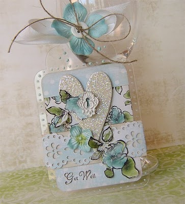 Pretty Blue Tag: Pretty Blue, Paper Tags, Acrylics Cards, Blue Tags, Cards Tags, Parer Crafts, Gifts Tags, Acrylics Tags, Paper Crafts