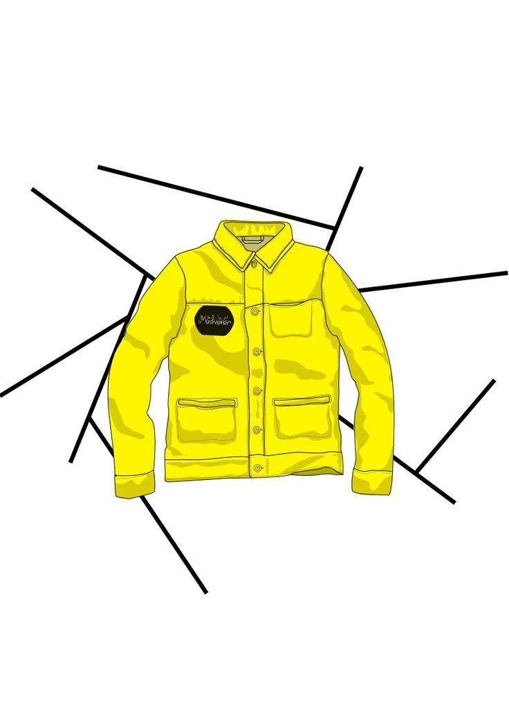 Yellow jacket illustration | The Moshioner