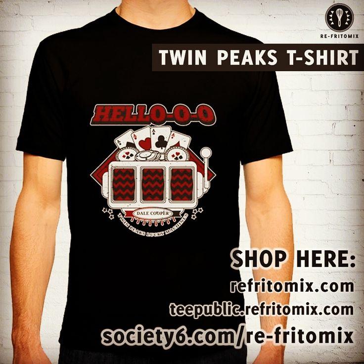 HELLOOOOOO!! Twin Peaks t-shirt also available on Society6 shop profile: re-fritomix  More stuff on Teepublic profile: refritomix & latostadora profile: refritomix   #agentcooper #dalecooper #davidlynch #laurapalmer #twinpeaks #twinpeaks2017 #twinpeaksse #twinpeaksukfest #tee #tshirt #tvseries